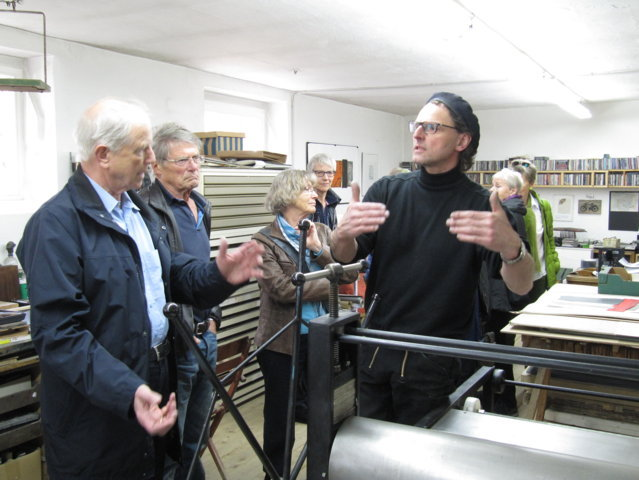 Atelierbesuch bei Helmut Anton Zirkelbach am 29.04.2015
