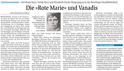 """Die """"Rote Marie"""" und Vanadis"""