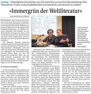 """""""Immergrün der Weltliteratur"""""""